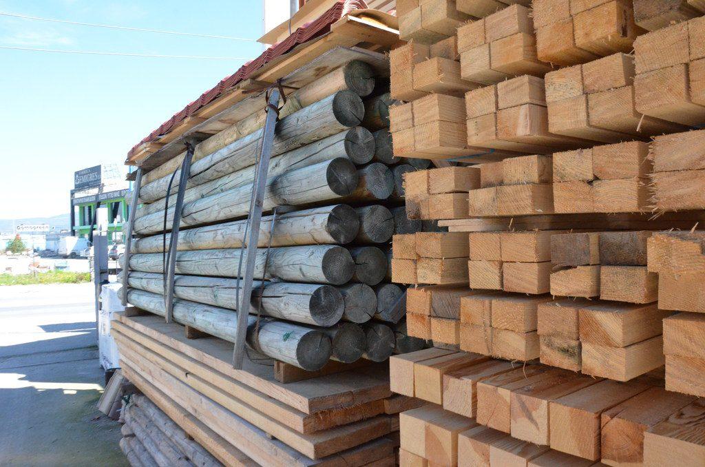 Εμποτισμένη στρόγγυλη ξυλεία